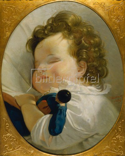 Joseph Weidner: Prinzessin Marie Liechtenstein als Kind (Kopie nach einem Gemälde von Amerling).