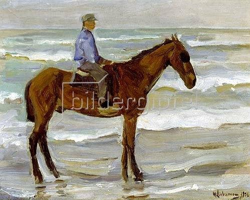 Max Liebermann: Reiter am Strand. 1902.