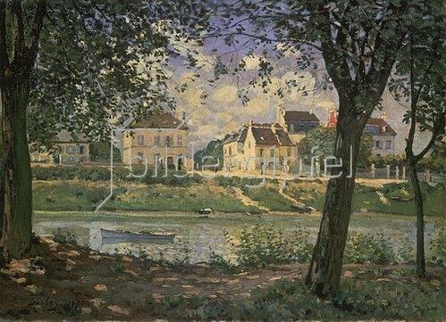Alfred Sisley: Die kleine Stadt Villeneuve-la-Garenne an der Seine. 1872