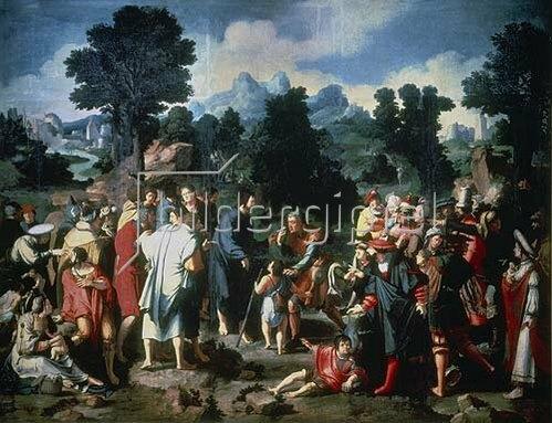 Lucas van Leyden: Die Heilung des Blinden von Jericho.