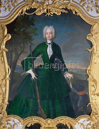 Franz Joseph Winter: Kurfürstin Amalia Maria Josepha von Bayern mit einem Berger de Beauce.