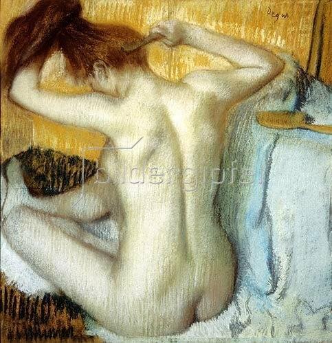 Edgar Degas: Frau bei ihrer Toilette. 1885.