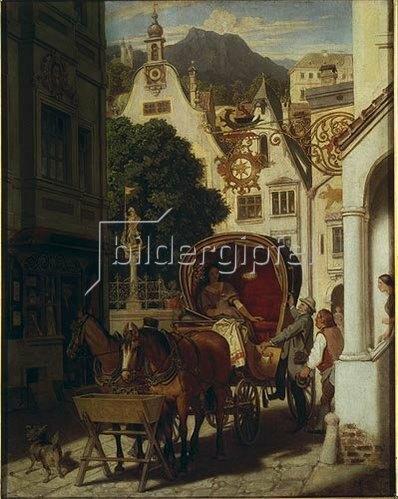 Moritz von Schwind: Die Hochzeitsreise. Um 1855