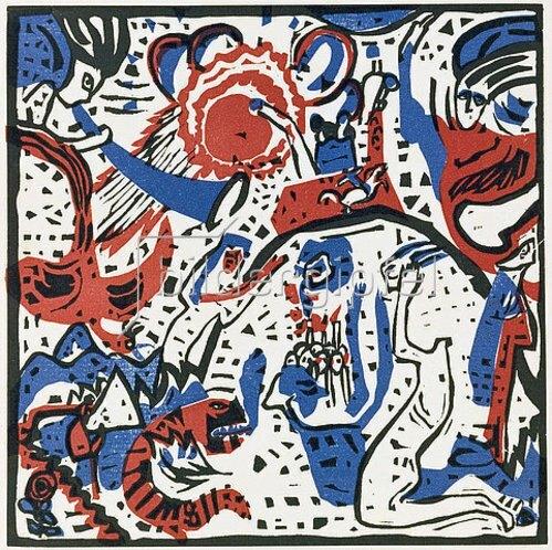 Wassily Kandinsky: Klang der Posaunen (Grosse Auferstehung) 1911.