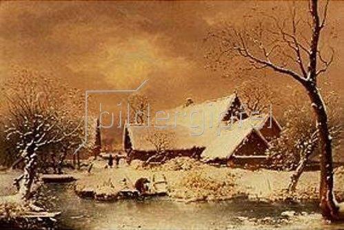 Wilhelm Heinrich Schneider: Verschneite Winterlandschaft. 1835.