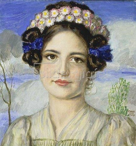 Franz von Stuck: Bildnis der Tochter Mary.