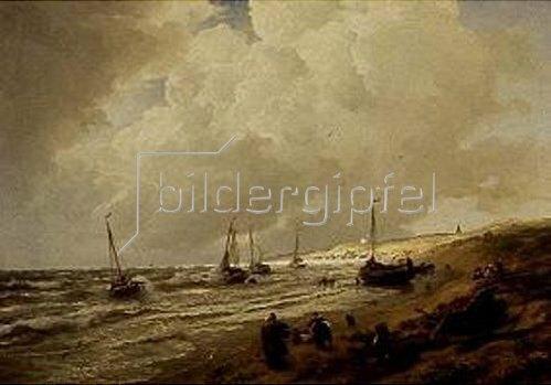 Andreas Achenbach: Strand bei Scheveningen. 1868.