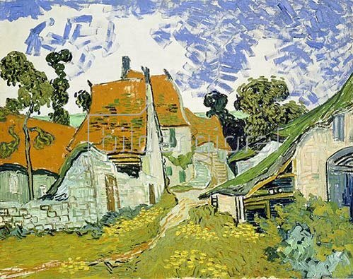 Vincent van Gogh: Dorfstraße in Auvers. 1890