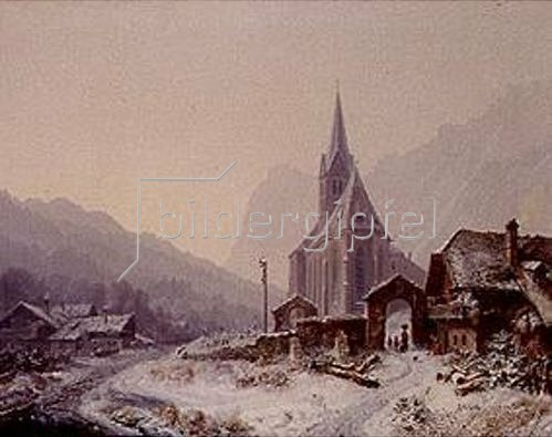 Heinrich Bürkel: Winter in der Ramsau.
