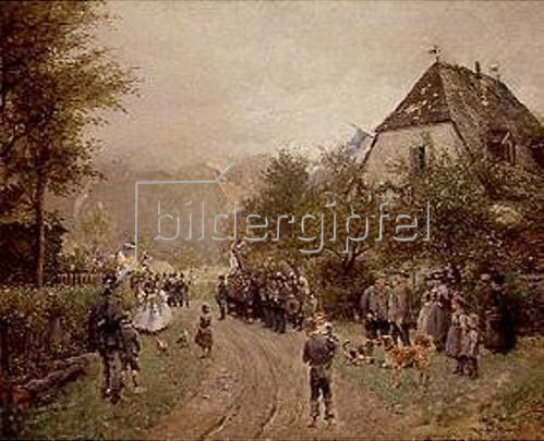 Otto Piltz: Fahnenweihe in Oberbayern