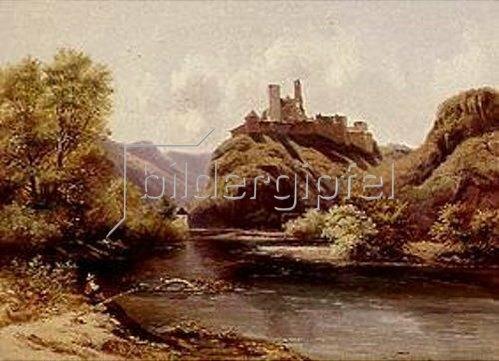 Ludwig Neelmeyer (Neelmeijer): Schloss Sigmundskron an der Etsch in Südtirol. 1849.