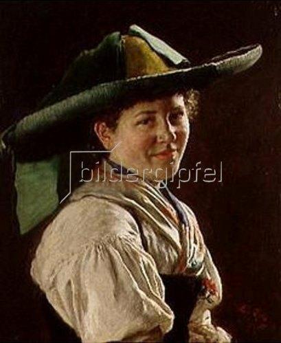 Karl Emil Rau: Der grüne Hut. 1887.