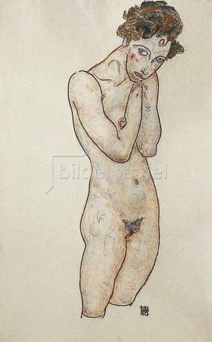 Egon Schiele: Stehender weiblicher Akt. 1917.
