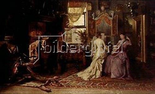 Théodore Gérard: Wohlklang im Maleratelier. 1886.