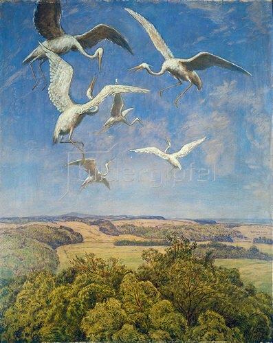 Hans Thoma: Wonne des Fliegens. 1910.