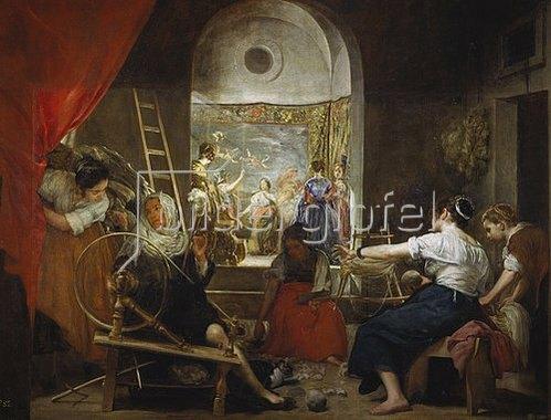Diego Rodriguez de Velazquez: Las Hilanderas (Die Spinnerinnen, oder: Die Fabel der Arachne). Um 1657