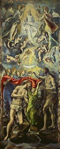 Greco El (Dominikos Theotokopoulos): Die Taufe Christi. Um 1597/1600.