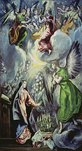 Greco El (Dominikos Theotokopoulos): Verkündigung Mariae. Um 1597/1600