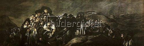 Francisco José de Goya: Die Wallfahrt des San Isidro (Aus den schwarzen Bildern der Quinta del Sordo). 1821-23