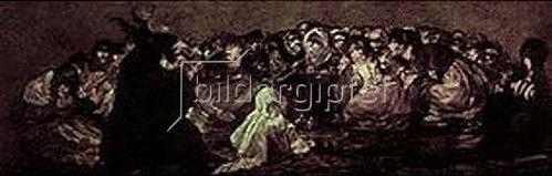 Francisco José de Goya: Der große Bock (Aus den schwarzen Bildern der Quinta del Sordo). 1820-1823