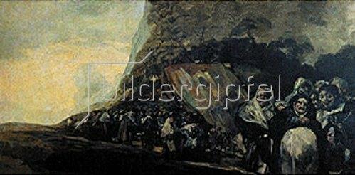 Francisco José de Goya: Prozession der Inquisition (Aus den schwarzen Bildern der Quinta del Sordo).