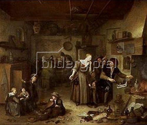 Richard Brakenburgh: In der Werkstatt des Alchimisten.