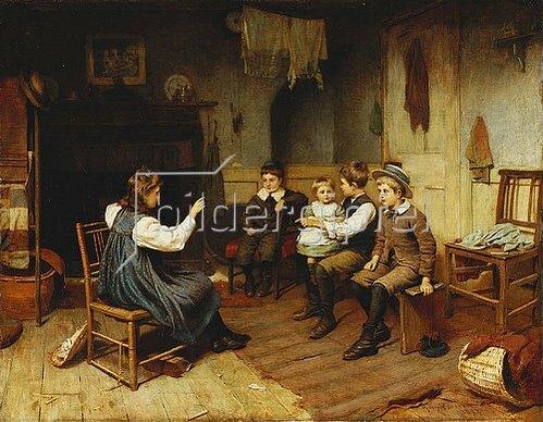 Harry Brooker: Kinder spielen Schule. 1893