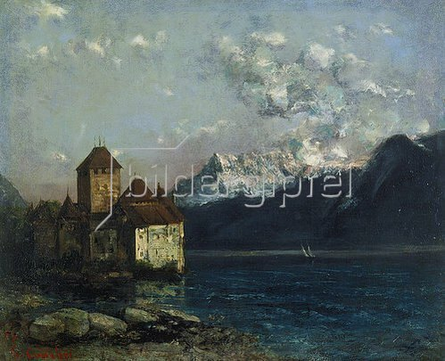 Gustave Courbet: Das Chateau de Chillon am Genfer See.