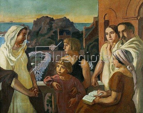 Maurice Denis: La Conversation sacrée (Der Künstler mit seiner Familie in Perros-Guirec). 1923