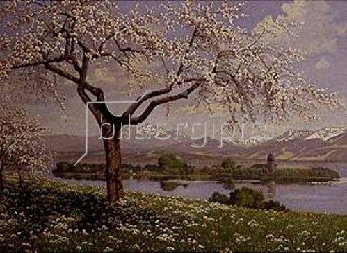 Philip Graf: Frühling am Chiemsee (Oberbayern).