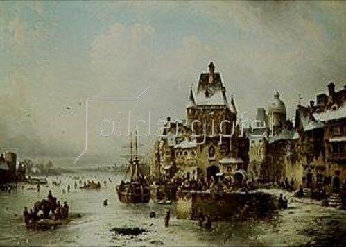Ludwig Hermann: Winterliche Stadt, wahrscheinlich Danzig