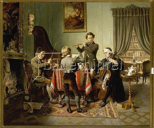 Friedrich Peter Hiddemann: Das Quartett. 1865.