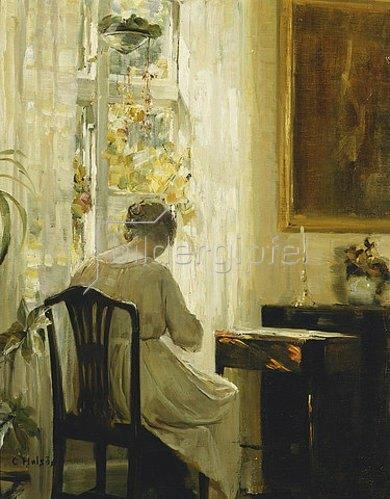 Carl Holsoe: Am Wohnzimmerfenster.