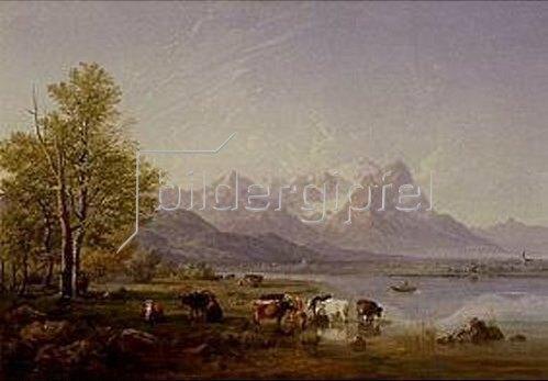 Heinrich Bürkel: Garmischer Tal. 1859