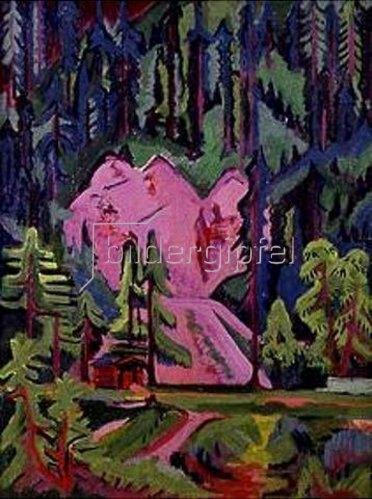 Ernst Ludwig Kirchner: Steinbruch bei Wildboden.