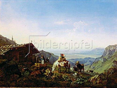 Heinrich Bürkel: Auftrieb zur Alm. 1836