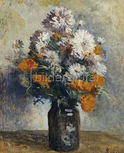 Maximilien Luce: Vase mit Dahlien.