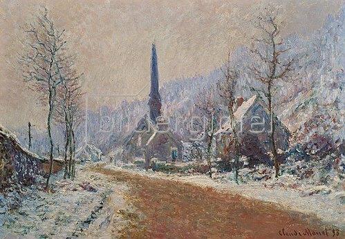 Claude Monet: Die Kirche von Jeufosse im Winter.