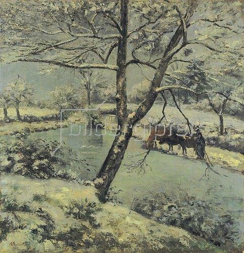 Camille Pissarro: Winterlandschaft bei Mont-Foucault. 1875