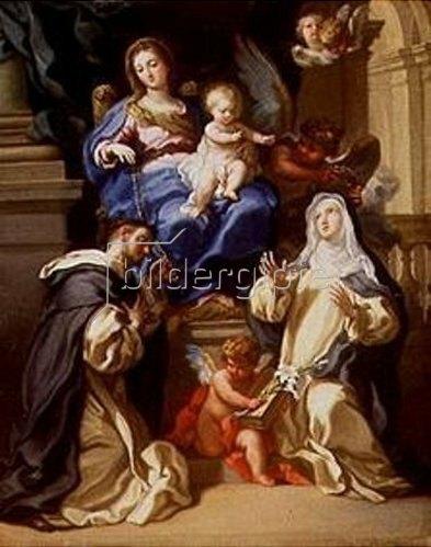 Filippo Ricci: Madonna mit Kind, den hll.Dominikus und Katharina von Siena, sowie Engeln.
