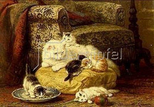 Henrietta Ronner-Knip: Katzenmutter mit Jungen.