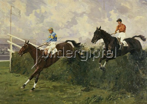 Charles Simpson: Golden Miller und Delaneige beim Grand National 1934.