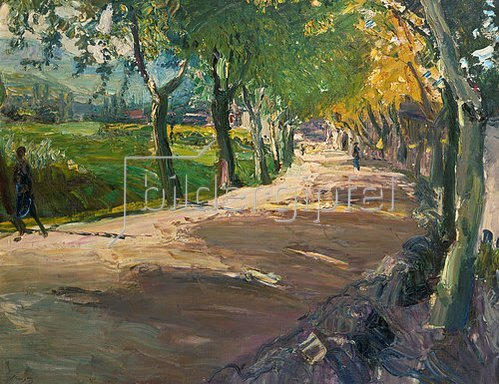 Max Slevogt: Straße bei Godramstein. 1909