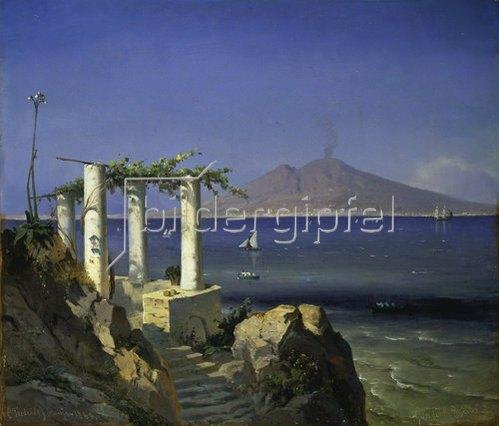 Carl Frederick Sorensen: Blick von Capri über den Golf von Neapel zum Vesuv. 1868