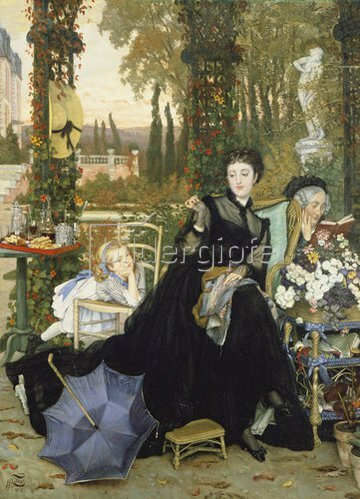 James Jacques Tissot: Die junge Witwe. 1858