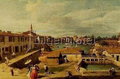 Canaletto (Giovanni Antonio Canal): Dolo (Brenta). Um 1730