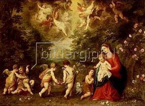 Hendrick van Balen: Rast auf der Flucht nach Ägypten. (Die Landschaft von Jan Brueghel d.Ä.)