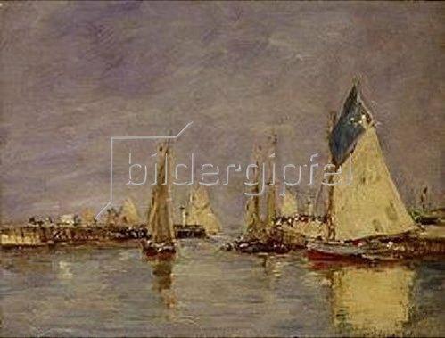 Eugène Boudin: Segelboote im Hafen von Trouville.
