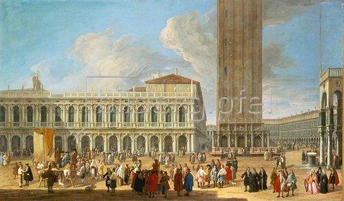 Luca Carlevarijs: Die Piazza San Marco in Venedig.