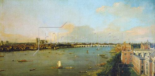 Canaletto (Giov.Antonio Canal): Ansicht von London mit der Themse. 1746/1747